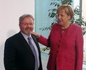 La cancelliera Angela Merkel con Giuseppe Scigliano