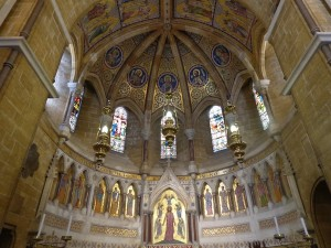 La cupola mosaicata della Chiesa Anglicana Holy Cross