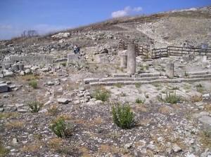 Un parte del sito archeologico della città di Iaitas
