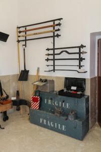 Una parte del Museo sulla Civiltà del Ferroviere di Roccapalumba (Palermo) - foto di Giorgio Mistretta