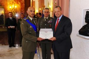 da sin. il generale Portolano, il generale Graziano e il generale Allen