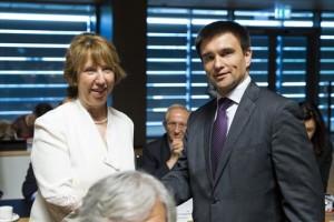 Da sinistra a destra: Sig.ra Catherine ASHTON, Alto Rappresentante per la politica estera e di Difesa; Sig.Pavlo KLIMKIN, Ministro degli Esteri Ucraina.