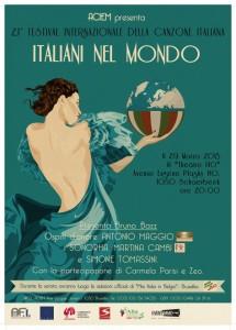 """Festival Internazionale della Canzone Italiana  """"Italiani nel mondo"""" Edizione 2013"""