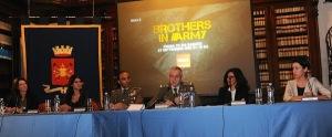 Un momento della presentazione di Brothers in Army
