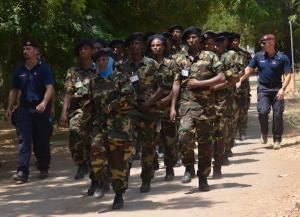 Una fase dell'addestramento dei Carabinieri italiani in favore della Polizia somala
