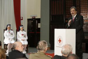 Il Presidente nazionale della Croce Rossa Italiana Francesco Rocca durante il suo intervento