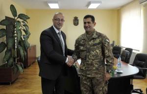 Il sindaco Rakic e il generale Figliuolo