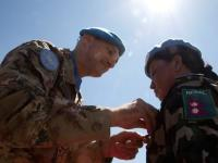 UNIFIL Force Commander awards UN medals to Nepalese peacekeepers and visits MTF