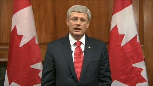 Prime Minister Stephen Harper said Canada would not be intimidated by this 'terrorist' attack - http://www.dailymail.co.uk/
