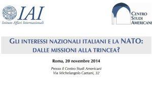 Gli interessi nazionali e la Nato. Roma, 20 novembre 2014