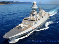 Trieste: la fregata Virginio Fasan riceve la bandiera di combattimento