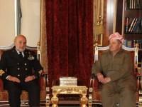 Kurdistan: il capo di SMD ammiraglio Binelli Mantelli incontra il Presidente Barzani