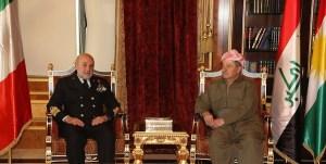 L'ammiraglio Binelli in Kurdistan
