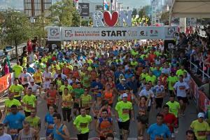 Un momento della Beirut Marathon