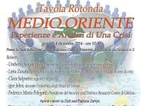 Medio Oriente, esperienze e analisi di una crisi: a Gorizia un incontro organizzato dall'Associazione Regina Elena