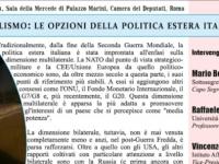 Multi- e bilateralismo: le opzioni della politica estera italiana: a Roma convegno organizzato dall'IsAG