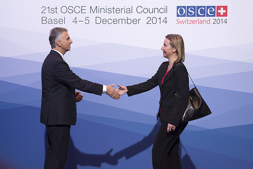 Plenary session of the OSCE Ministerial Council in Basel 4 December 2014
