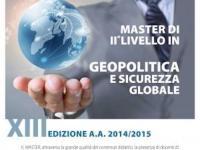 Master in Geopolitica e Sicurezza Globale: iscrizioni entro il 29 gennaio 2015