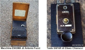 Macchina Enigma di A. Fucci e Tasto Safar di E. Chiarucci