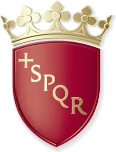 Il vecchio scudo della città di Roma