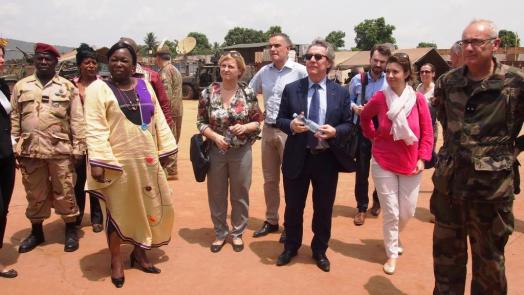 European MPs visit EUFOR RCA in Bangui