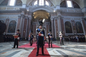 Gli onori dei Granatieri di Sardegna al Duca di San Pietro