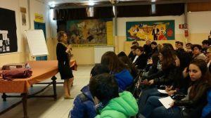 Palermo - Un momento della conferenza presso l'Istituto Comprensivo Statale Scinà-Costa