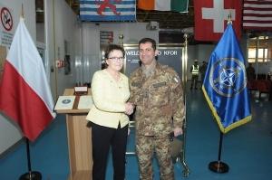 generale Figliuolo incontra a Pristina il Primo Ministro polacco Kopacz