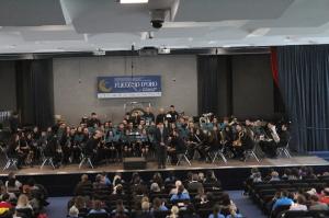 La Banda Calogero Spanò a conclusione dell'esibizione a Riva del Garda