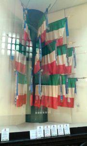Una teca presente nel Sacrario delle Bandiere