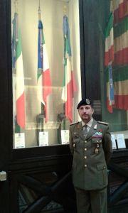 Il direttore del Sacrario delle Bandiere colonnello Giovanni Greco