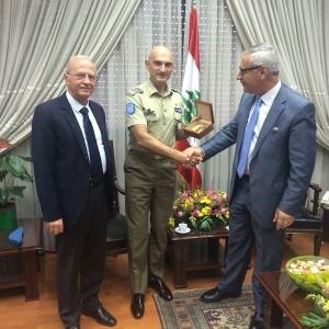 Il gen. Portolano e il presidente Fahed