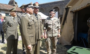 Il generale Errico insieme al generale Moscatelli