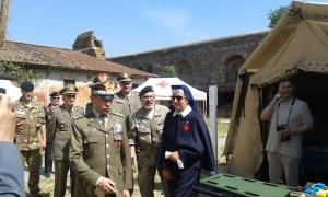 Il generale Errico visita l'area espositiva