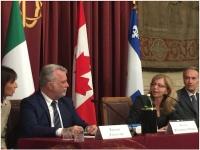 L'on. Nissoli ha ricevuto a Montecitorio il Primo Ministro del Québec Couillard
