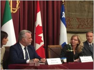 L'on. Nissoli con il Primo Ministro del Québec Philippe Couillard
