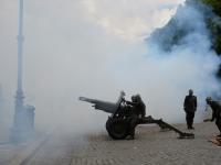 Una salva di batteria dal Gianicolo a Roma per commemorare il centenario della Grande Guerra