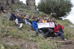 I volontari nell'area protetta in provincia di Palermo