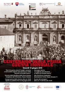 Roma: eventi per ricordare la presenza della Legione ceco-slovacca in Italia durante la Grande Guerra