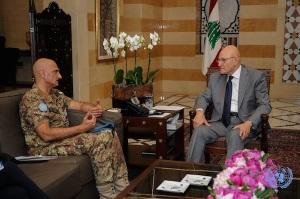 Il generale Portolano e il Primo Ministro libanese Tammam Salam