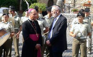 Anagni - monsignor Gerardo Antonazzo e il Rabbino Capo della Comunità Ebraica di Roma