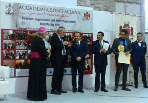 Il Rabbino Capo della Comunità Ebraica di Roma durante il suo intervento prima di ricevere il Premio Bonifacio VIII
