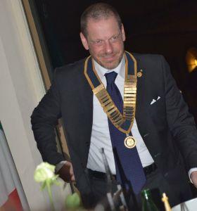 Il presidente del Rotary Club Roma Appia Antica, Alessandro Bani