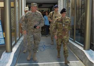 Il generale Philip Breedlove e il generale di divisione Guglielmo Luigi Miglietta