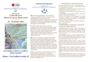 A Roma il Corso base in Medicina delle Migrazioni organizzato dalla Caritas