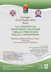 La logistica militare nella medicina delle catastrofi: convegno a Roma al Celio