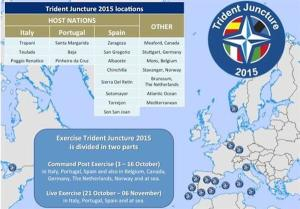 Trident Juncture 2015 location