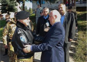 Il generale Miglietta incontra il sindaco di Leposavic, municipalità del Kosovo del nord