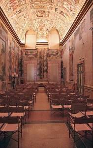 La Sala Zuccari a Palazzo Giustiniani