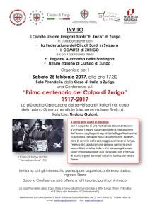 A Zurigo la conferenza di Gatani sull'operazione dei servizi segreti italiani nella I Guerra Mondiale